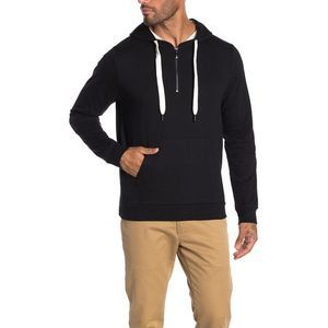 ROBERT BARAKETT Black Anchor Point 1/4 Zip Hoodie